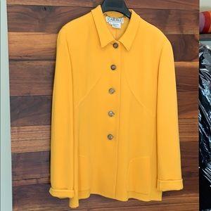 Carlisle yellow wool jacket /blazer